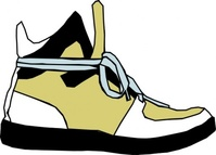 shoe,sneaker,colour,cartoon,sideview,side,hightop,high top,media,clip art,public domain,image,png,svg