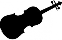 violin,silhouette,music,instrument