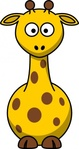 cartoon,giraffe,colour,funny,animal,mammal