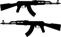 rifle,silhouette,ak47,soviet,russia,assault rifle,military,vector drawing,gun,line art,media,clip art,how i did it,public domain,image,svg