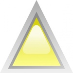 triangular,yellow,button,glossy,triangle