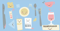 misc,_misc,plate,glass,spoon,pork,knife,kitchen,ware