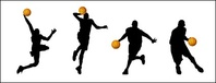 basketball,action,figure,silhouette,vector,material