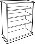 wooden,bookcase,line art,furniture,bookshelf,colour,book,wood,media,clip art,public domain,image,png,svg