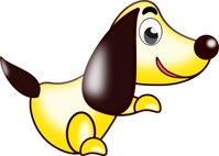 cartoon,animal,dog,yellow,caricature,media,clip art,how i did it,public domain,image,png,svg