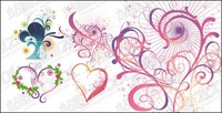 heart,shaped,pattern,element,vector,material