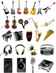 musical,instrument,acoustic,art,audio,black,button,classical,electric,equipment,gramophone,guitar,microphone,modern,multimedia,music,note,object,old,piano,play,player,record,saxophone,set,sound,speaker,technology,violin,volume