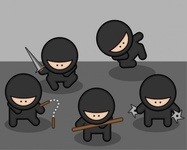 ninja,media,clip art,public domain,image,png,svg,cartoon,japan,nunchuck,staff,star,sword,weapon,japanese