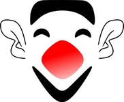 laughing,clown,face,mask