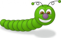 green,worm,insect,smile,animal,happy,caterpillar
