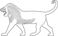 lion,outline