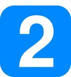 number,light,blue,rounded,square