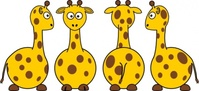 tobias,cartoon,giraffe,front,back,side,view,remix,colour,animal,funny,mammal,clip art,media,public domain,image,svg