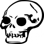 human,skull,remix,cartoon,drawn,head,horror,bone,death,dead,grin,teeth