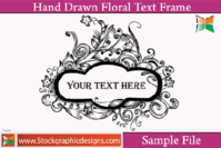 hand,drawn,floral,text,frame