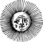 sun,space,weather,black & white,contour,outline