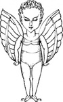 winged,media,clip art,externalsource,public domain,image,png,svg,myth,creature,imp,sprite,uspto,colouring book