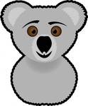 koala,media,clip art,public domain,image,png,svg,bear,animal,australia,cartoon,face