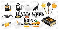 halloween,icon,material,witch,ghost,black,cat,bat,mail