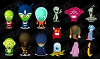 cartoon,alien,material