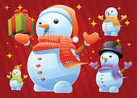 card,carrot,christmas,cold,cute,frost,frozen,fun,greeting,happiness,holiday,outdoors,playful,scarf,season,smiling,snow,snowman,winter
