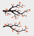 branch,illustration,japanese,spring,tree