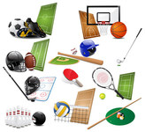 american,athletic,ball,baseball,basket,basketball,billiard,bowling,collection,competition,equipment,football,game,golf,helmet,hockey,icon,illustration,pool,racket,shiny,soccer,sport,sporting,team,tennis,volleyball