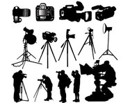 camera,photographer,silhouette,worker