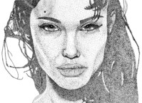 people,stipple art,celebrity,angelina jolie,woman,face,girl,angelina,celeb