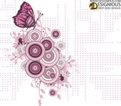 business,business card,logo,card design,graphic design,illustration,designious,halftone,flower,floral,butterfly