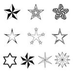 star,black and white,symbol