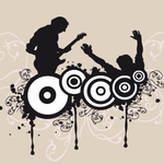music,silhouette,dj,graphics,speaker,turntable,mixer,vinyl,dance,disco,dancing,lady,scratch