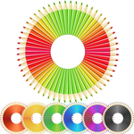 pencil,crazy,radial,set,rainbow,school,education,color