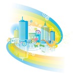 city,skyline,town,rainbow,element,city,skyline,rainbow,design,element,city,skyline,rainbow,element