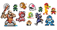 8bit,pixel,video game,super mario,megaman,character,mario,mario brother