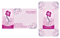 business,card,identity,company,ornament,ornamental,abstract,illustration,calling,elegant,floral,flower,ornamented,pink,pinkish