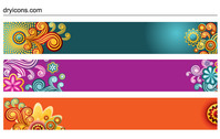 banner,beautiful,colorful,flower,retro,stylish