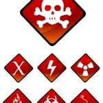 vector,editable,alarm,alert,attention,biohazard,caution,chemical,construction,danger,dangerous,electric,explosion,extreme,fire,flammable,hazard,icon,illustration,industrial,industry,injury,isolated,label,mark,nuclear,poison,pollution,protection,protective,radiation,radioactive,restricted,risk,safe