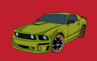 vehicle,ca,cartoon,ford,mustang,american,muscle,v8,old,school