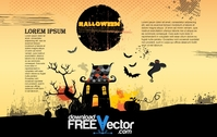 halloween,poster,element,illustration,house,scary,ghost,silhouette