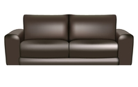 sofa,leather,realistic,black,brown,furniture,gradient,mesh