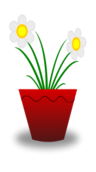 flower,pot,white,plant,life,red,mud,art,public,domain,flower,svg,png,clip