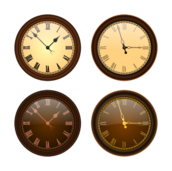 clock,time,hour,minute,second,old,analogic,mechanic,old fashioned,brown,roman numeral,gold,yellow,black