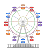 ferris wheel,fun,amusement park,spin,child,cartoon,child