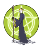 wizard,sorcerer,mage,enchanter,magic,fantasy,rpg,robe,mask,pentagram