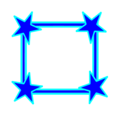 frame,border,bright,blue,simple,star,star