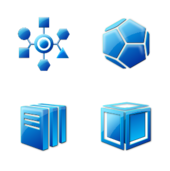 icon,circle,cube,triangle,pentagon,geometry,blue,aqua