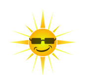sun,happy,face,smile,sunshine,sunglasses,cool sun,graphic,summer,cartoon,clip art,image,svg,png