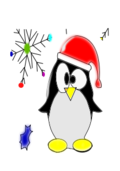 linux penguin,black,white,christmas,season,holiday,cold,snow,ice,winter,hat,xmas,snowflake,linux penguin
