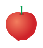 apple,illustration,stem,red